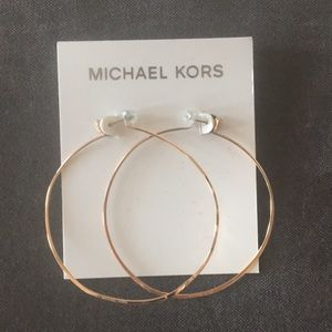 Never Worn! Rose Gold Michael Kors Hoop Earrings